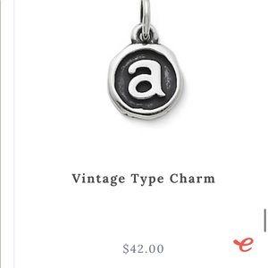 Vintage type charm